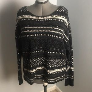 Boat Neck Knit Sweater